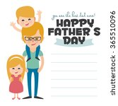 happy fathers day card. vector... | Shutterstock .eps vector #365510096