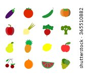 flat food icons. vector... | Shutterstock .eps vector #365510882