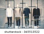 mens clothing in a retail store. | Shutterstock . vector #365513522