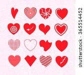 heart illustrations set  | Shutterstock .eps vector #365514452
