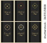 vector set of cards with a... | Shutterstock .eps vector #365515808