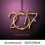 2017 happy new year background... | Shutterstock . vector #365529836