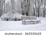 Benches In The Winter City Par...