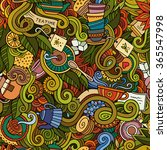 cartoon hand drawn doodles on...   Shutterstock .eps vector #365547998