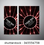 abstract red circle light... | Shutterstock .eps vector #365556758