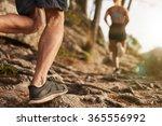 Closeup Of Male Feet Run...