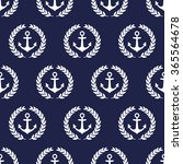 navy vector seamless patterns... | Shutterstock .eps vector #365564678