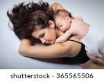 portrait of a mother with her... | Shutterstock . vector #365565506