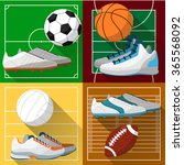 football field  basketball... | Shutterstock .eps vector #365568092