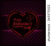 happy valentines day pink... | Shutterstock . vector #365575322