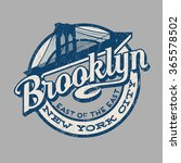 brooklyn new york city retro... | Shutterstock .eps vector #365578502