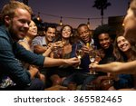 group of friends enjoying night ... | Shutterstock . vector #365582465