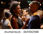 couples dancing and drinking at ... | Shutterstock . vector #365582588