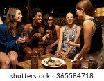 group of female friends...   Shutterstock . vector #365584718
