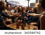 group of friends enjoying night ... | Shutterstock . vector #365584742