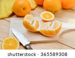 fresh and juicy half and slice... | Shutterstock . vector #365589308
