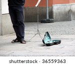 street performer - stock photo