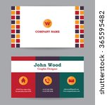 business card template cards | Shutterstock .eps vector #365595482