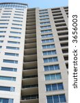 condo balconies on a high rise... | Shutterstock . vector #3656003