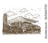 the shanghai grand theatre.... | Shutterstock .eps vector #365604755