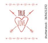 saint valentines day greeting... | Shutterstock .eps vector #365621252