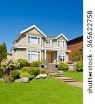 luxury house in vancouver ... | Shutterstock . vector #365622758