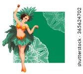 Woman Samba Dancer. Rio...