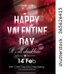 vector flyer for valentines day | Shutterstock .eps vector #365626415