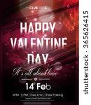 vector flyer for valentines day | Shutterstock .eps vector #365626415