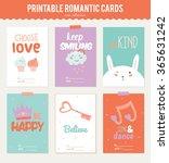 valentines day calligraphic... | Shutterstock .eps vector #365631242