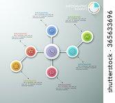 modern flowchart or mindmap... | Shutterstock .eps vector #365633696
