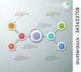 modern flowchart or mindmap... | Shutterstock .eps vector #365633708