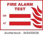 fire alarm test sign | Shutterstock .eps vector #365650028