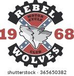 biker's artwork 'rebel wolves'...
