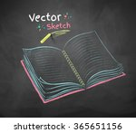 color vector chalk drawing of... | Shutterstock .eps vector #365651156