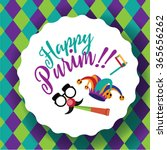 jewish holiday purim design... | Shutterstock .eps vector #365656262