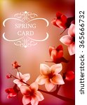 beautiful blossoming spring... | Shutterstock .eps vector #365666732