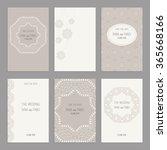 templates for greeting and... | Shutterstock .eps vector #365668166