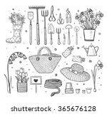 big set of hand drawn sketch...   Shutterstock .eps vector #365676128