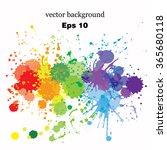 paint splashes splatters... | Shutterstock .eps vector #365680118