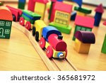 Toy Train In Brick Town
