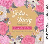 flower wedding invitation card  ... | Shutterstock .eps vector #365688566