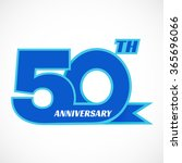 template logo 50th anniversary. ... | Shutterstock .eps vector #365696066