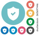 flat active security icon set...