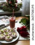 homemade yogurt tarts and glass ... | Shutterstock . vector #365708195