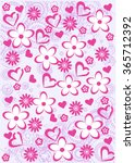 pink abstract  floral pattern... | Shutterstock .eps vector #365712392
