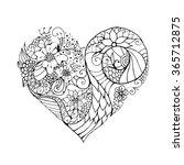 ornamental floral valentine's... | Shutterstock .eps vector #365712875