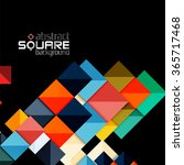 glossy color squares on black.... | Shutterstock .eps vector #365717468
