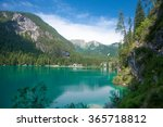 lake braies in the dolomites ... | Shutterstock . vector #365718812