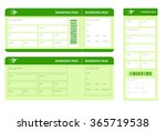 set of airline boarding pass...   Shutterstock .eps vector #365719538